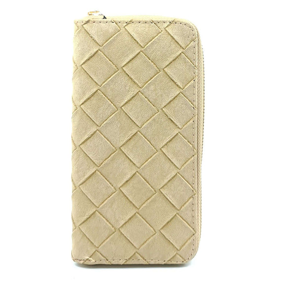 Ladies Purse Woven Cream