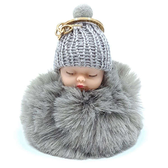 Baby Doll Key Ring Grey
