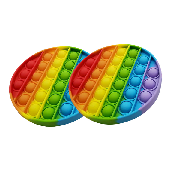 Pop it Sensory Fidget Toy Rainbow Double Pack