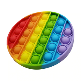 Pop It Sensory Fidget Toy Rainbow Circle