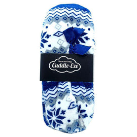 Cuddle Eze Slippers Blue Pattern