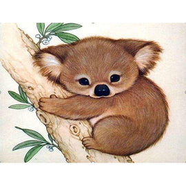 Diamond Art Picture Half Drill Size 15X20- Baby Koala