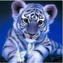 Diamond Art Picture Half Drill Size 15X20- Baby Tiger