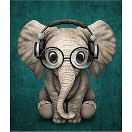 Diamond Art Picture Half Drill Size 15X20- Cool Elephant