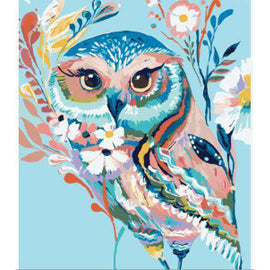 Diamond Art Picture Half Drill Size 15X20- Paint Owl