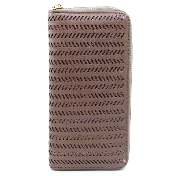 Ladies Purse Zig-Zag Plum