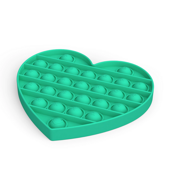Pop It Sensory Toy Green Heart
