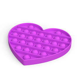 Pop It Sensory Toy Purple Heart
