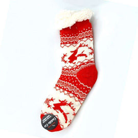 Cuddle Eze Knitted Socks-Red
