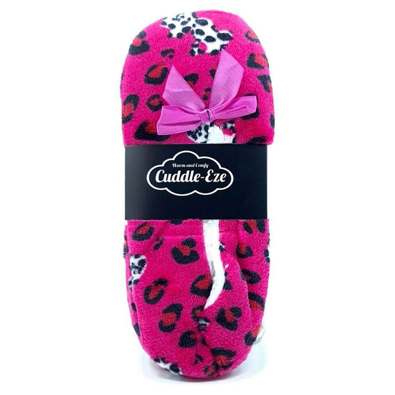 Cuddle Eze Slippers Hot Pink Leopard