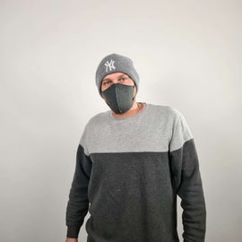 3-Layer Cotton Mask Grey Denim