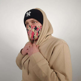 3-Layer Cotton Mask Pink Camo