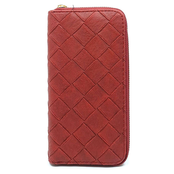 Ladies Purse Red Woven