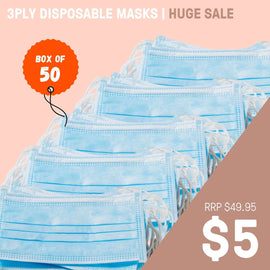 3PLY DISPOSABLE MASK | BOX OF 50