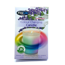 FineLife Colour Changing Candle Lavender