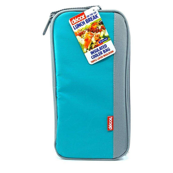Décor Lunch Break Insulated Cooler Bag-Light Blue