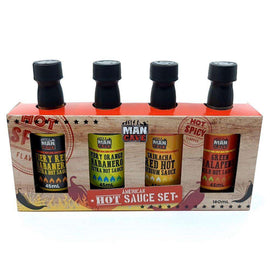 Man Cave Hot Sauce 4 Pack