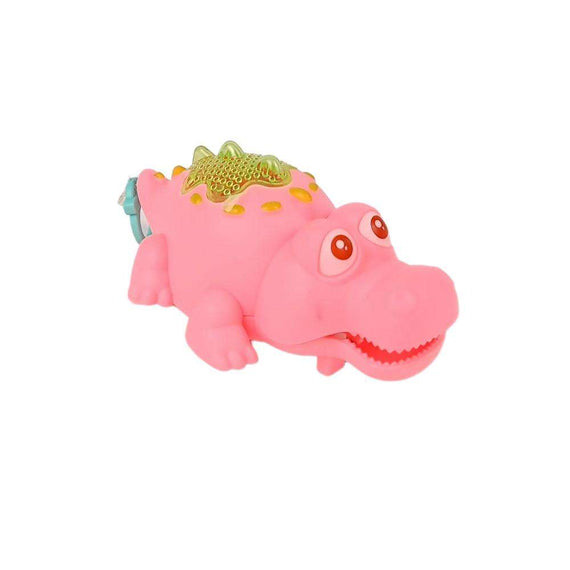 Pink Crocodile Pull Toy