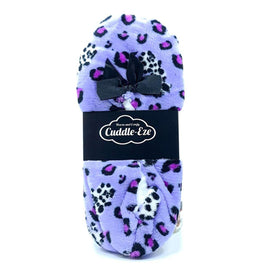 Cuddle Eze Slippers Purple Leopard