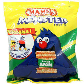 Mamee Monster Noodles Perisa Ayam 8 x 25g Pack