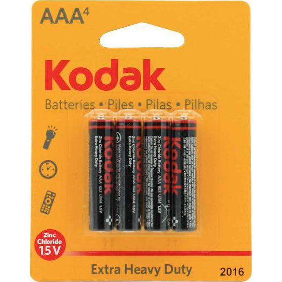 Kodak AAA Extra Heavy Duty Battery 4 Pack