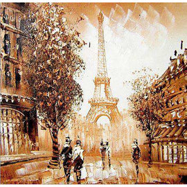 Diamond Art Picture Half Drill Size 30X30 Eiffel Tower Painting