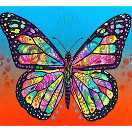 Diamond Art Picture Half Drill Size 30X30 Psychedelic Butterfly