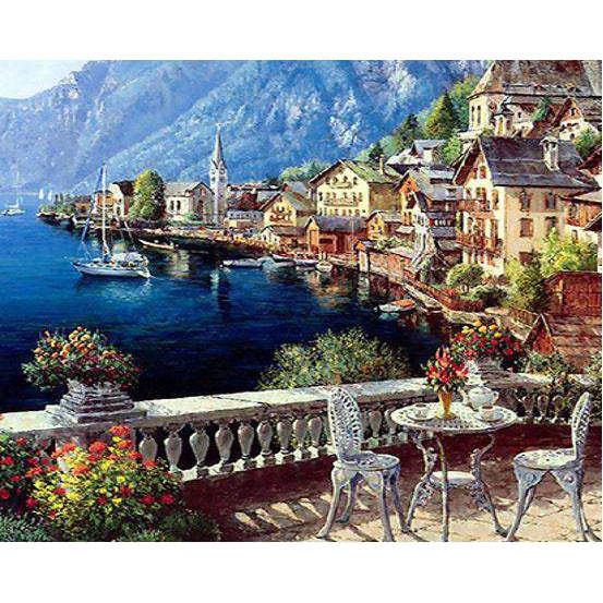 Diamond Art Picture Half Drill Size 30X30 Slovenia Scenery