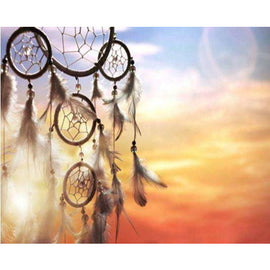 Diamond Art Picture Full Drill Size 35X45  Dream Catcher