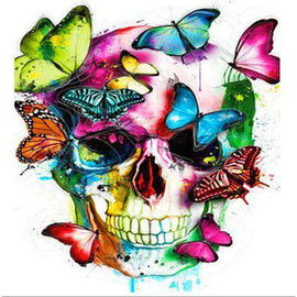 Diamond Art Picture Full Drill Size 35X45 Butterfly Skull