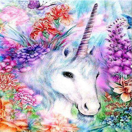 Diamond Art Picture Full Drill Size 35X45 Flowery Unicorn
