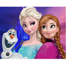 Diamond Art Picture Full Drill Size 35X45 Frozen Sisters