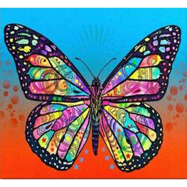 Diamond Art Picture Full Drill Size 35X45 Pyschedelic Butterfly