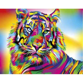 Diamond Art Picture Full Drill Size 35X45 Rainbow Tiger
