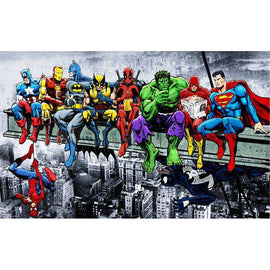 Diamond Art Picture Full Drill Size 35X45 Superheroes