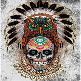 Diamond Art Picture Full Drill Size 35X45 Tribal Skull