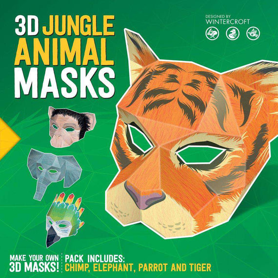 3D Jungle Animal Masks