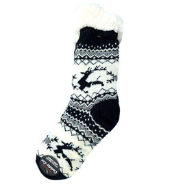 Cuddle Eze Knitted Socks-Black