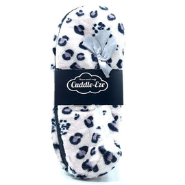 Cuddle Eze Slippers Grey Leopard