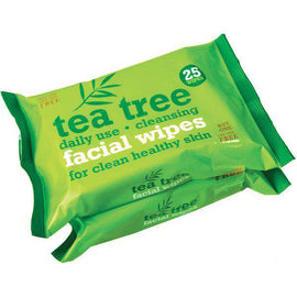 Tea Tree Facial Wipes 2 x 25 Pack
