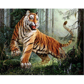 Diamond Art Picture Full Drill Size 40X50 Crouching Tiger King