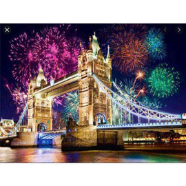 Diamond Art Picture Full Drill Size 40X50 London Fireworks