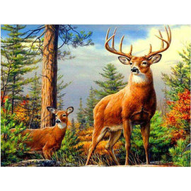 Diamond Art Picture Full Drill Size 40X50 Stag & Doe