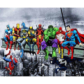 Diamond Art Picture Full Drill Size 40X50 Superheroes