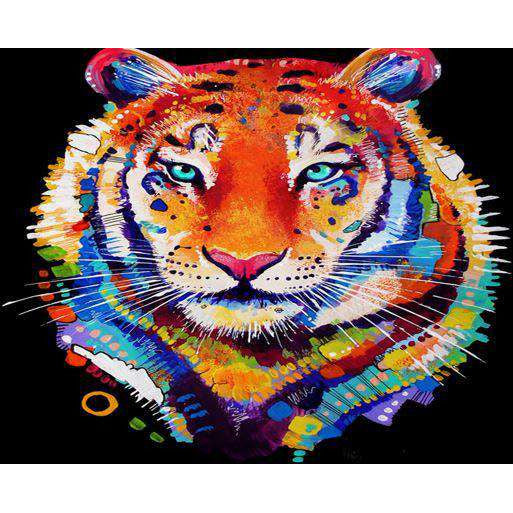 Diamond Art Picture Full Drill Size 40X50 Tiger Art