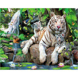 Diamond Art Picture Full Drill Size 40X50 White Tiger Clan