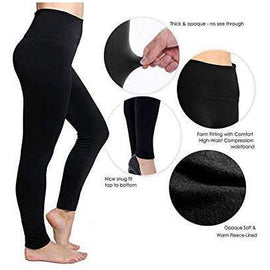 FIT FLEECE LINED LEGGINS - HIGH WASTED