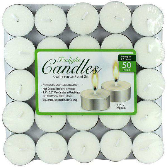 Tealight Unscented Candles 50 Pack