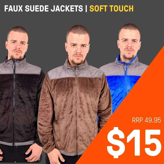 MENS FAUX SUEDE JACKETS | SUPER SOFT