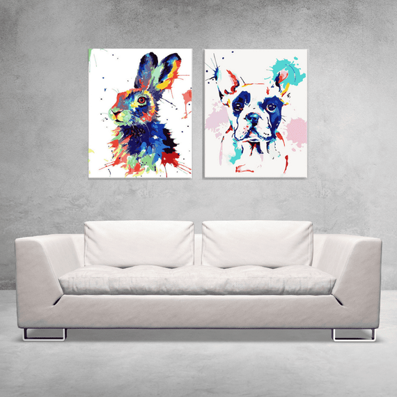 Paint By Numbers Duo Set - Pop Art Friends 40x50cm